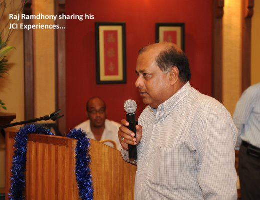 Raj Ramdhony addressing the audience