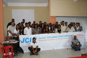 Participants of JCI Curepipe's Project Management and Presentation Skills Training