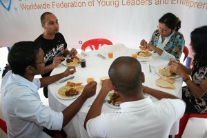 Lunch Table at JCI Curepipe's Participants of JCI Curepipe's Project Management and Presentation Skills Training