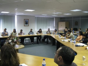 Attendees at JCI Curepipe's Training on Stock Market and Stock Purchase